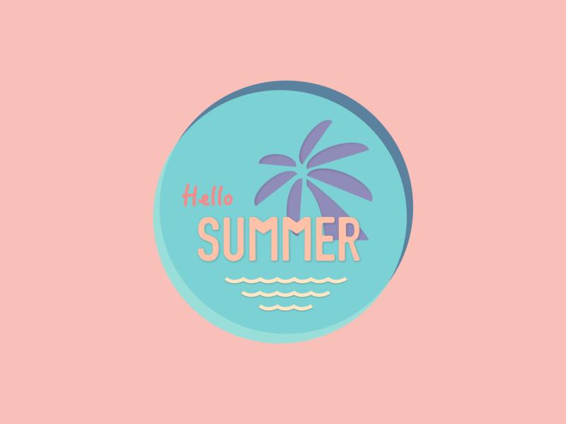 Summer Logo Weekly Warm-up logo design icon design icon sketch logo design dribbbleweeklywarmup