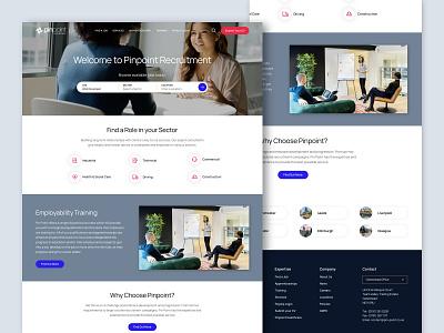 Pinpoint Recruitment agency recruitment clean homepage desktop responsive web design web ux ui