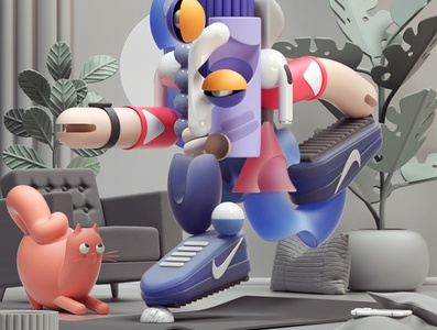 YOGA abstract art modern adobe graphic design inspiration octane cinema4d design illustration 3d