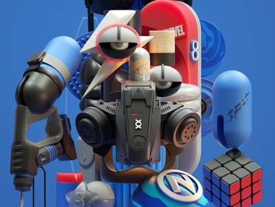 Dope art modern adobe graphic design inspiration octane cinema4d design illustration 3d