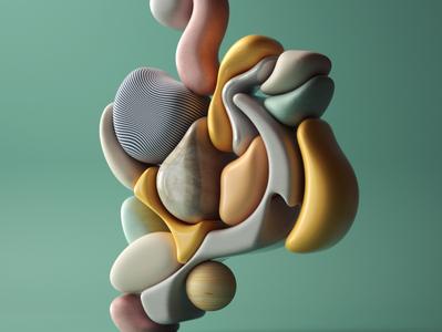 Curvature V2 art modern adobe graphic design inspiration octane cinema4d design illustration 3d