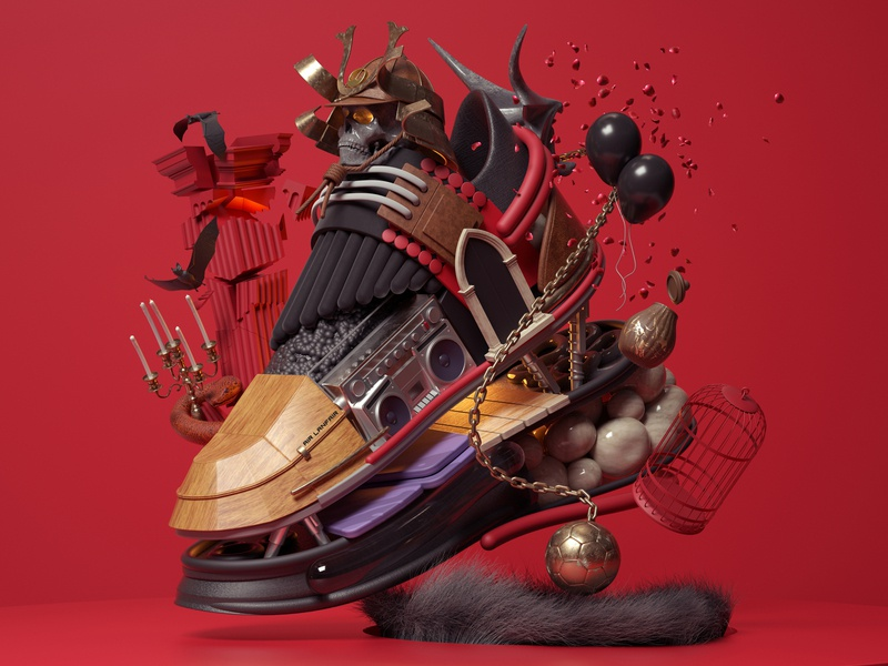 Sneaker Concept art modern adobe graphic design inspiration octane cinema4d design illustration 3d
