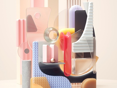 Breathing Space art modern adobe graphic design inspiration octane cinema4d design illustration 3d