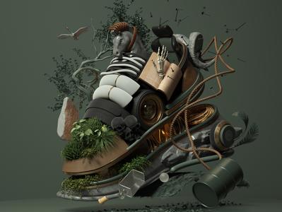 Sneaker Concept adobe modern graphic design sneakers inspiration octane cinema4d design illustration 3d