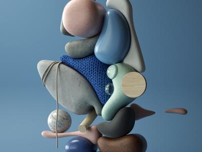 Curvature 2020 art modern adobe graphic design inspiration octane cinema4d design illustration 3d
