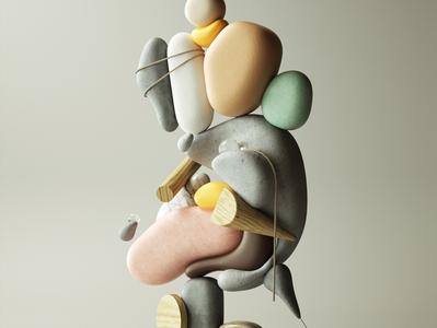Exaggerated Sculptures art modern adobe graphic design inspiration octane cinema4d design illustration 3d