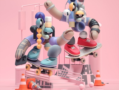 DUO - Character Illustration VI art modern adobe graphic design inspiration octane cinema4d design illustration 3d