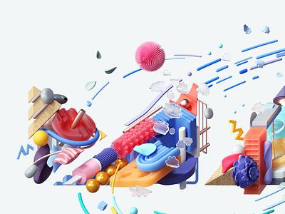 Adobe Max 2020 art modern adobe graphic design inspiration octane cinema4d design illustration 3d