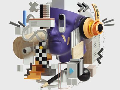 Web Illustrations art abstract modern graphic design inspiration octane cinema4d design illustration 3d