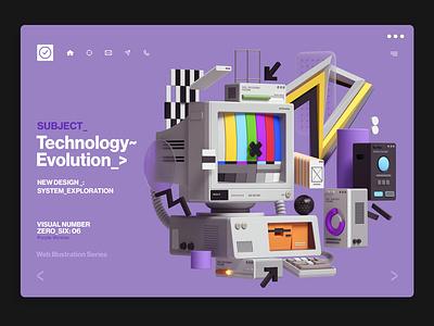Web Illustrations cinema 4d modern abstract graphic design web inspiration octane cinema4d design illustration 3d