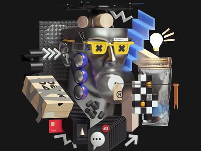 Web Illustrations abstract art adobe modern graphic design inspiration octane cinema4d design illustration 3d