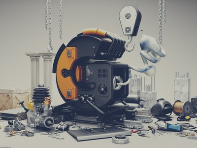 Typography Manufacuring  typography 3d graphic design generators machines construction