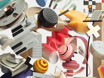 Vinyl Moon Record Cover Album art adobe modern graphic design inspiration octane cinema4d design illustration 3d