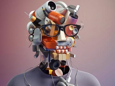 Self Portrait Series 2050 cinema 4d modern graphic design inspiration octane abstract cinema4d design illustration 3d