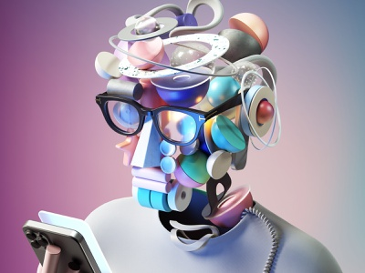 Self-Portraits 2050 abstract adobe modern graphic design inspiration octane cinema4d design illustration 3d