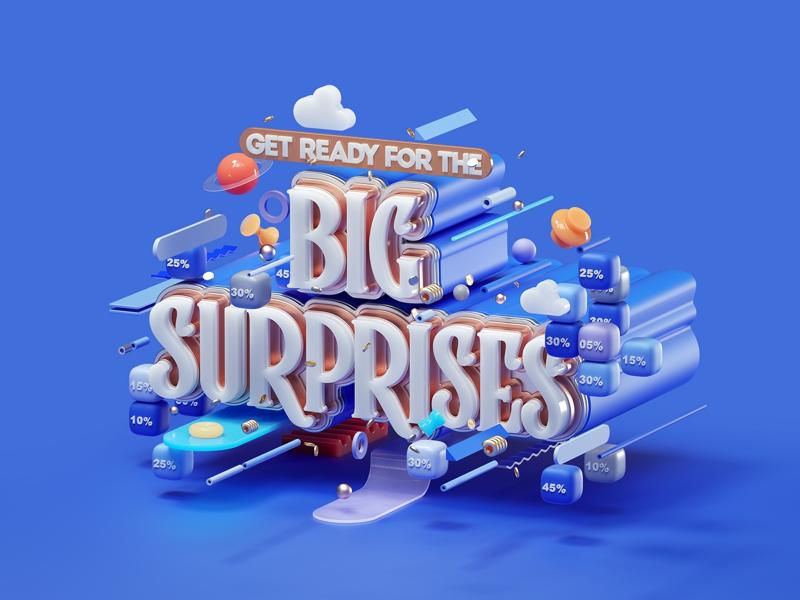 Big Surprises 20Level Games icons game modern inspiration graphic design illustration cinema 4d 3d