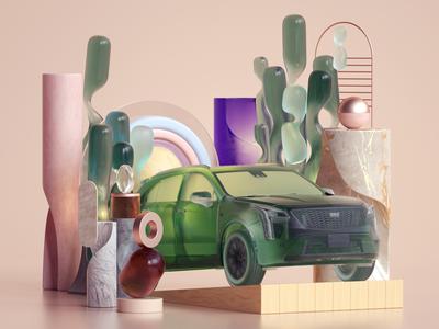 Illustration for Cadillac octane set design modern inspiration illustration cinema4d 3d