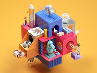 IQ Magazine Illustrations render octane illustration design inspiration cinema4d 3d