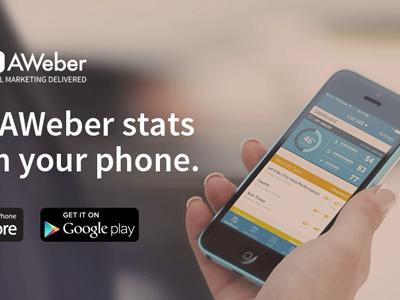 AWeber Mobile App Social Promotion