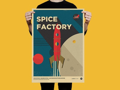 Spice Factory Poster nasa space spicefactory graphicdesign illustration poster