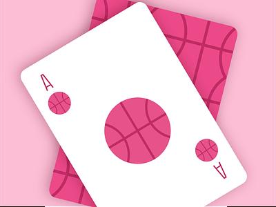 One dribbble invite dribbbleinvite illustration cards basketball drafting draft giveaway invite dribbble