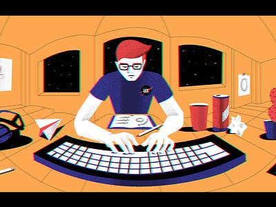 360° Illustration programmer illustration web software video ui ai developer computer 360 ux