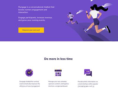 Running 🏃 header fast web illustration runners runner marathon race run running