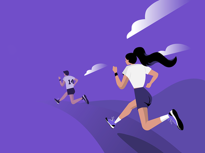 Running 🏃 header fast web illustration runners runner marathon race run running