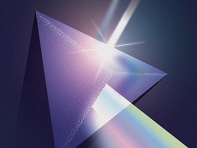 Newton's Prism cover magazine photons photonics newton illustration light science prism