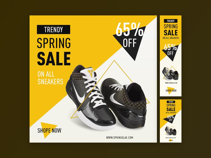 Climbing Shoe - Display Ad Design display ad website branding typography vector sale website ad design advertisment advertising creative design website ad ad display shoe offer spring sale climbing