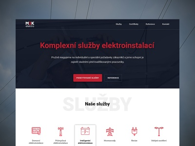 First shot - Electro redesign ui ux czech welcome dribbble shot first electro red white black design