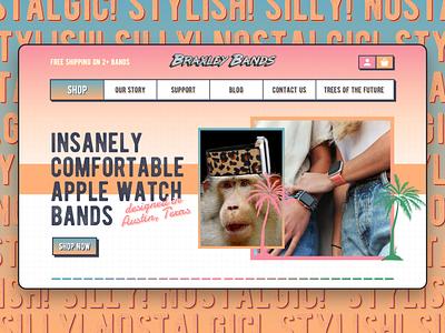 BRAXLEY BANDS typeface funk illustration ux ui e-commerce apple watch nostalgic