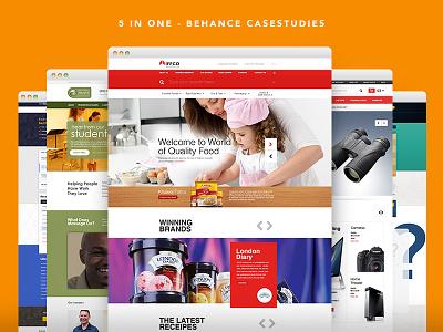 5 in 1 - CaseStudies for Behance Portfolio  longtail designs simple designs e-commerce