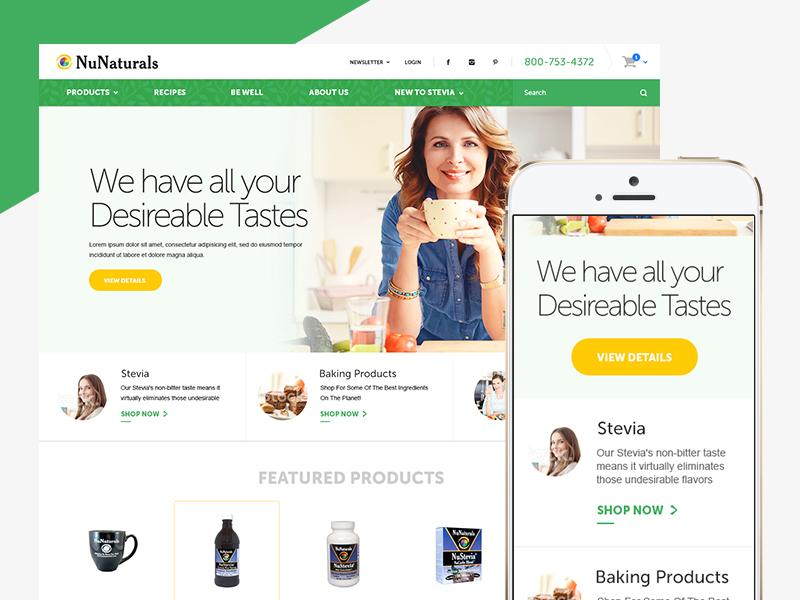 NuNaturals fuelmade flat interface e-commerce