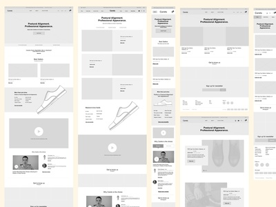 Wireframes for Caretsco.com apps mobile ecommerce wireframes prototypes