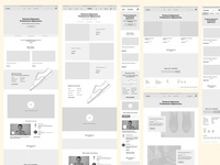 Wireframes for Caretsco.com