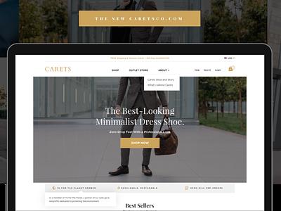 Carets Case Study typography illustration e-commerce logo flat ui ui responsive design web design flat design