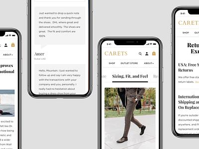 Carets Mobile ux web design typography design e-commerce responsive design flat design mobile app