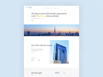 Landing Page Concept ux flat design web design flat ui branding corporate