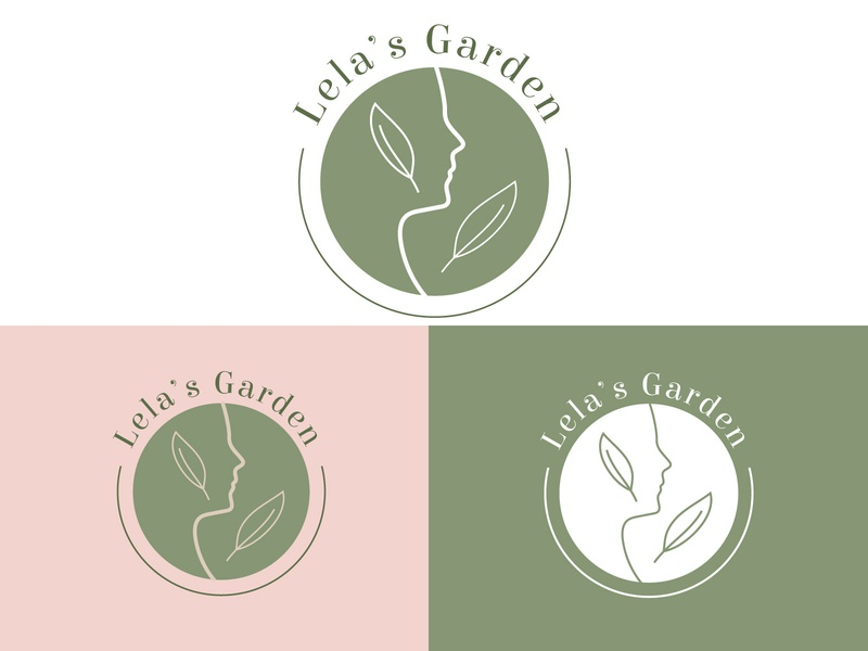 Lelas Garden Cosmetics Identity Design skincare natural herbal logo cosmetic branding identity design beauty care