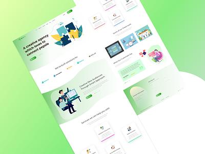 Agency Landing Page web ux ui design