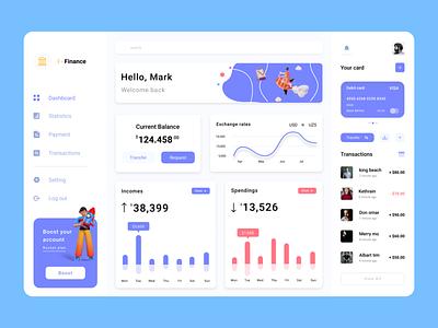 Finance Dashboard dashboard template design dashboard ui kit deashboard design dashboard ui dashboard app typography ux ui