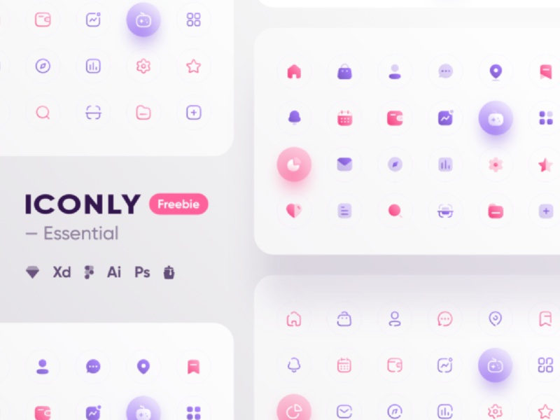 Iconly Essential icons Design Freebies icons free download design freebie