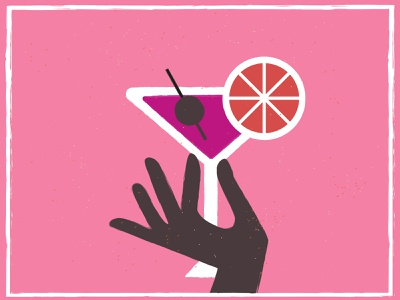 Poster hand and cocktail cocktail design summer poster banner illustration vector bar hand