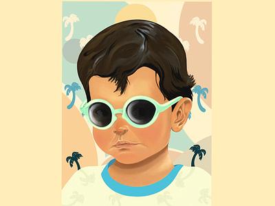 Cool kid print procreate digital painting