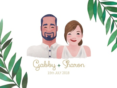 Wedding Illustration invite vector sketch drawing design illustration