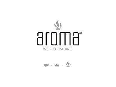 Aroma Coffee Logo brand design branding vector logo royalty crown coffee