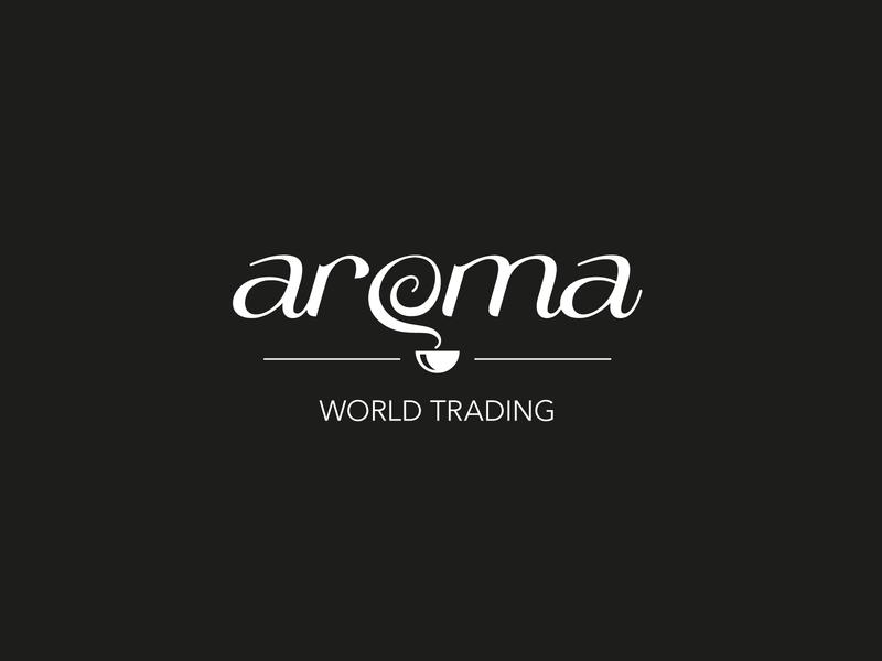 Aroma Coffee logo 2 brand identity branding logo coffee