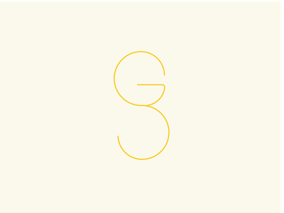 G S design icon @logo @illustration illustration