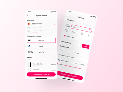 Daily UI #2 — Credit Card Checkout design minimal checkout page checkout form figmadesign uiux design ui design forms payment red uiux ux checkout credit card figma ui
